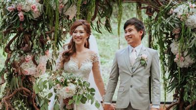 Hãy cùng học cách bày trí hôn lễ xanh mát với cặp đôi người Singapore này thôi nào!